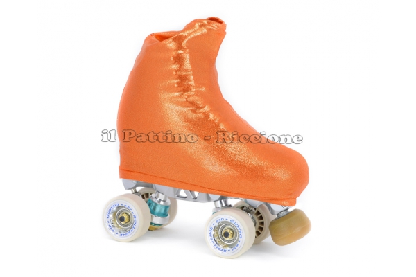 Cubre patines color naranja metal
