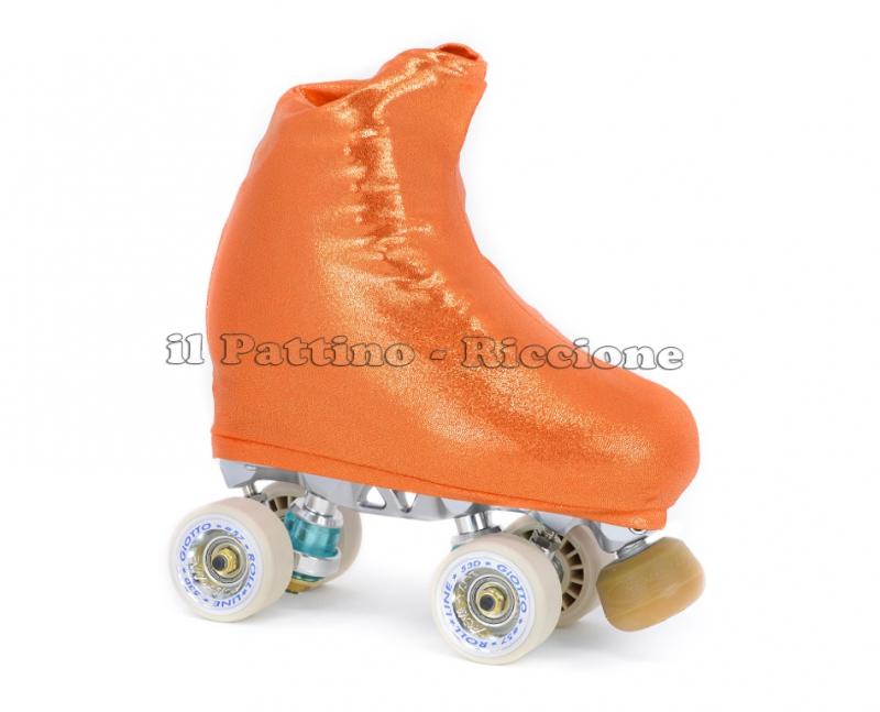 Cubre patines color naranja metal