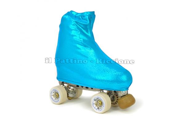 Cubre patines color azul claro metalizado