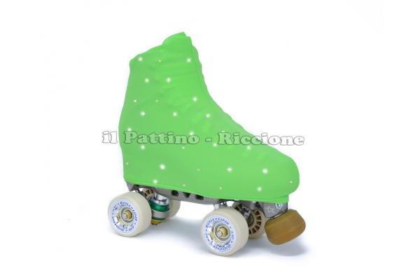 Cubre patines color verde con strass