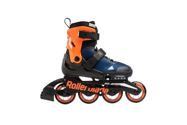 Patines Rollerblade Microblade azul medianoche/ naranja calido