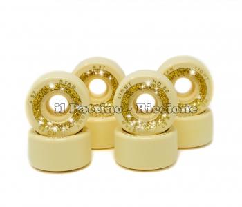 Ruedas Star Boiani con Glitter HD 80 diam. 57 mm Amarillas